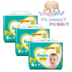 Pack Jumeaux 468 Couches Pampers New Baby - Premium Protection taille 4