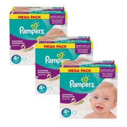 Mega Pack 186 Couches Pampers Active Fit taille 4+ sur 123 Couches