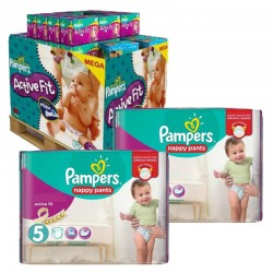 Maxi Pack 630 Couches Pampers Active Fit - Pants taille 5 sur 123 Couches