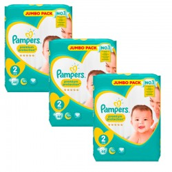 Giga Pack 204 Couches Pampers New Baby - Premium Protection taille 2 sur 123 Couches