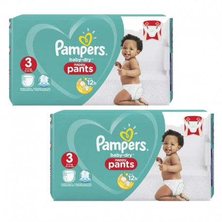 Giga Pack 160 Couches Pampers Baby Dry Pants taille 3 sur 123 Couches