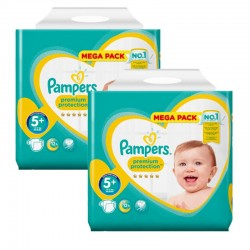 Maxi Pack 270 Couches Pampers New Baby - Premium Protection taille 5+
