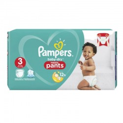 Pack 80 Couches Pampers Baby Dry Pants taille 3 sur 123 Couches
