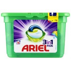 Ariel Pods 16 Colour & Style 3in1 (432 gr) sur 123 Couches