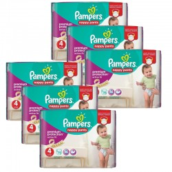 Maxi Pack 224 Couches Pampers Active Fit - Pants taille 4 sur 123 Couches