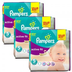 Maxi Giga Pack 141 Couches Pampers Active Fit taille 5 sur 123 Couches