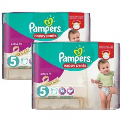 Giga Pack 180 Couches Pampers Active Fit - Pants taille 5 sur 123 Couches