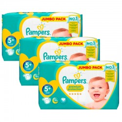 Maxi Giga Pack 135 Couches Pampers New Baby - Premium Protection taille 5+