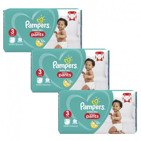 Maxi Giga Pack 240 Couches Pampers Baby Dry Pants taille 3 sur 123 Couches