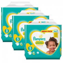 Maxi Pack 210 Couches Pampers New Baby - Premium Protection taille 5 sur 123 Couches