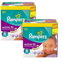 Maxi Pack 240 Couches Pampers Active Fit - Premiun Protection taille 6 sur 123 Couches