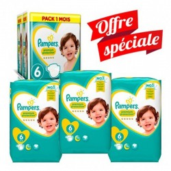 Maxi Giga Pack 168 Couches Pampers New Baby - Premium Protection taille 6