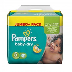 Pack 72 Couches Pampers Baby Dry taille 5 sur 123 Couches