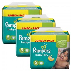 Giga Pack 144 Couches Pampers Baby Dry sur 123 Couches
