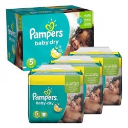 Maxi Giga Pack 288 couches Pampers Baby Dry sur 123 Couches