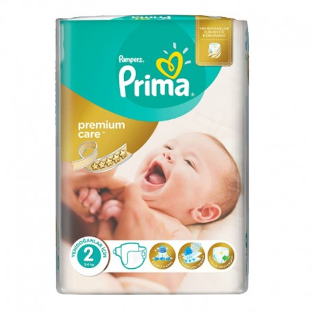 Pack 22 Couches Pampers Premium Care - Prima taille 2 sur 123 Couches