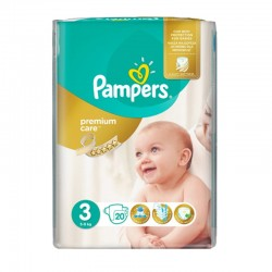 Pack 20 Couches Pampers Premium Care - Prima taille 3