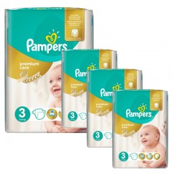 Maxi Giga Pack 240 Couches Pampers Premium Care Prima