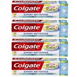 Lot 4 Dentifrices Colgate Total Expert Nettoyage sur 123 Couches
