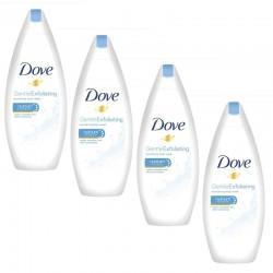 Lot de 4 Gels Dove Douche 250 ml Gentle Exfoliating sur 123 Couches