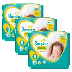 Giga Pack 72 Couches Pampers New Baby taille 0 sur 123 Couches