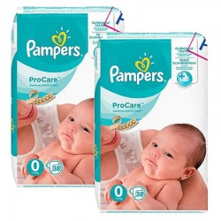 Maxi Giga Pack 76 Couches Pampers ProCare Premium protection taille 0