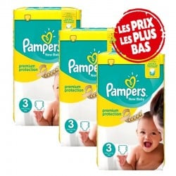 Giga Pack 200 Couches Pampers New Baby - Premium Protection taille 3