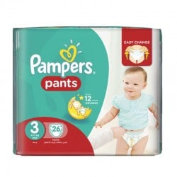 Pack 26 Couches Pampers Baby Dry Pants taille 3 sur 123 Couches