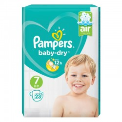 Pack 23 Couches Pampers Baby Dry taille 7 sur 123 Couches