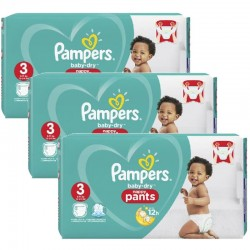 Giga Pack 130 Couches Pampers Baby Dry Pants taille 3