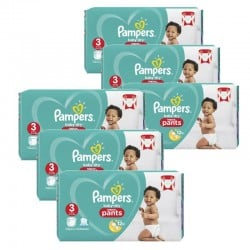 Maxi Pack 260 Couches Pampers Baby Dry Pants taille 3