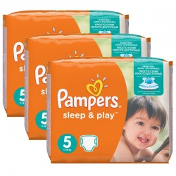 Maxi Pack 116 Couches Pampers Sleep & Play taille 5 sur 123 Couches