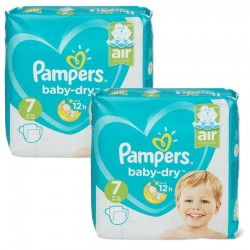 Giga Pack 115 Couches Pampers Baby Dry taille 7 sur 123 Couches