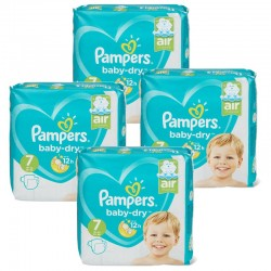 Maxi Pack 138 Couches Pampers Baby Dry taille 7 sur 123 Couches