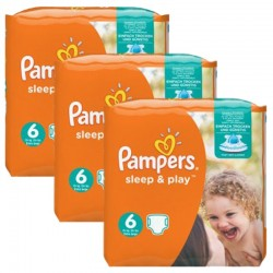Mega Pack 120 Couches Pampers Sleep & Play taille 6