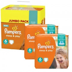 Giga Pack 150 Couches Pampers Sleep & Play taille 6 sur 123 Couches