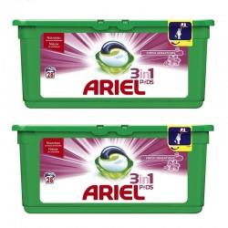 Lot de 2 Ariel Pods 28 Fresh Sensations 3in1 (795,2 gr) sur 123 Couches
