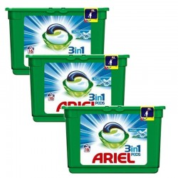 Lot de 3 Ariel Pods 16 Original 3in1 (454,4 gr) sur 123 Couches