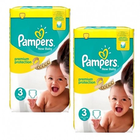 100 Couches Pampers premium protection taille 3 sur 123 Couches