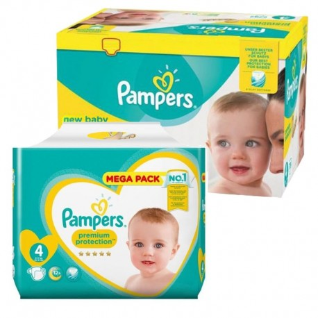 Mega Pack 117 Couches Pampers new baby - premium protection taille 4 sur 123 Couches