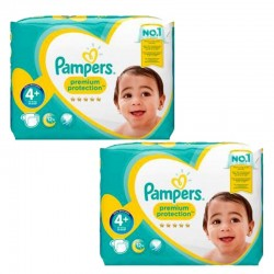Giga Pack 124 Couches Pampers new baby - premium protection taille 4+ sur 123 Couches