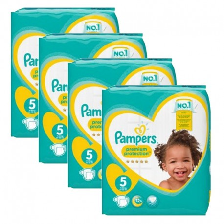 Mega Pack 240 Couches Pampers new baby - premium protection taille 5 sur 123 Couches