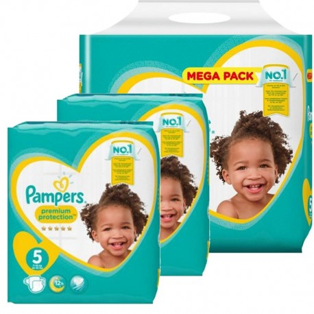 pack Jumeaux 480 Couches Pampers new baby - premium protection taille 5 sur 123 Couches
