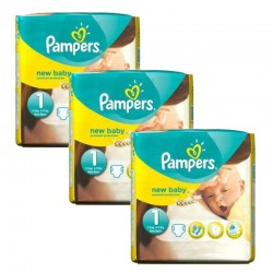 Pack 69 Couches Pampers new baby - premium protection taille 1
