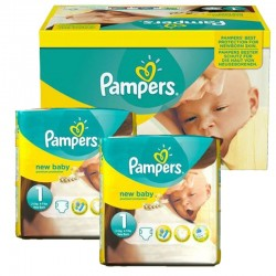 Maxi Pack 138 Couches Pampers new baby - premium protection taille 1