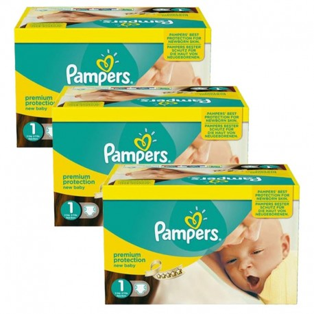 Pack Jumeaux 506 couches Pampers New Baby Premium Protection sur 123 Couches