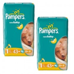 Pack 86 couches Pampers New Baby Dry sur 123 Couches