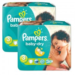 Pack 102 couches Pampers Baby Dry