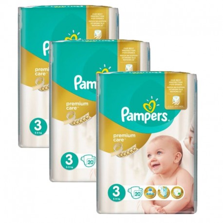 Pack 60 Couches Pampers Premium Care Prima sur 123 Couches