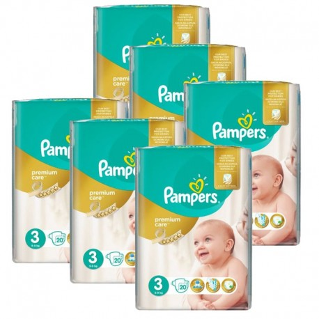 Pack Jumeaux 480 Couches Pampers Premium Care Prima sur 123 Couches